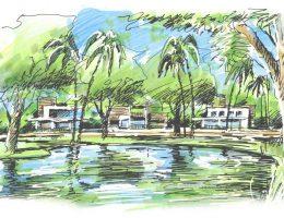 Casas com vista para o lago menor